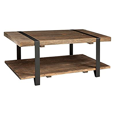 Alaterre Modesto Rustic Coffee Table - Natural - Additional limited-time savings reflected in current price Choose from available sizes Pine and metal construction - living-room-furniture, living-room, coffee-tables - 41QMILunycL. SS400  -
