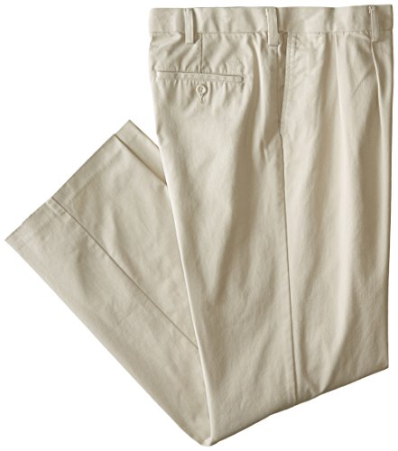 Dockers Men's Big & Tall Easy Khaki Comfort Waist Classic Fit Pleated Pant,Light Buff,44 29 (Classic Twenty Four Light)