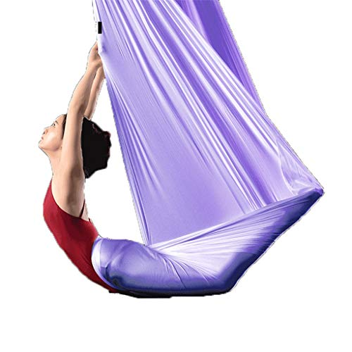 Weq Yoga Hammock Home Aerial Yoga Hammock Yoga Studio Professional Aerial Yoga Hammock Anti-Gravity Yoga Harness Home Yoga Supplies Load 500KG