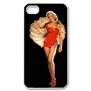 Fork-N8 Design Mystic Zone Customized Marilyn Monroe iPhone 4 Case for iPhone 4/4S Hard Cover well-know actress Fits Case KEK0079