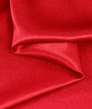 red crepe fabric - 7