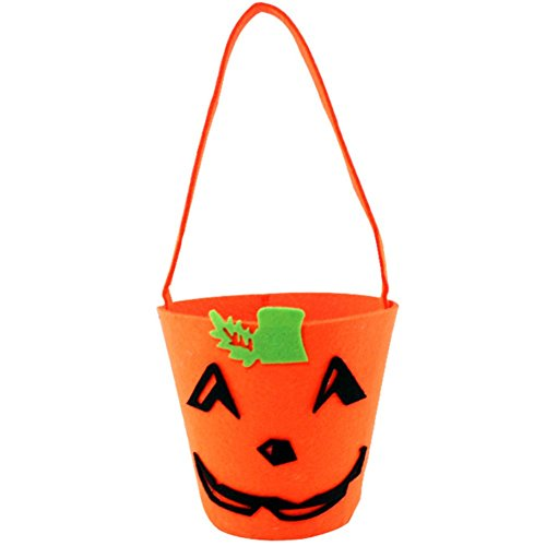 (Hosaire Halloween Hand Pumpkin BagBarrel Child Trick Or Treat Storage Candy Carrying Bag 1PCS)