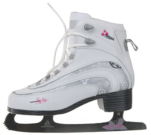 Nijdam Figure - Patines de hielo blanco, plateado y fuscia Talla:40