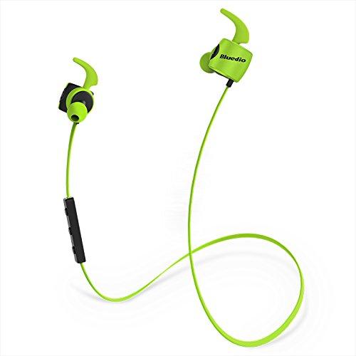Bluedio TE (Turbine) Bluetooth 4.1 Wireless Sports Earbuds Earphones, Sweatproof Running Headphones with Microphone (Green)