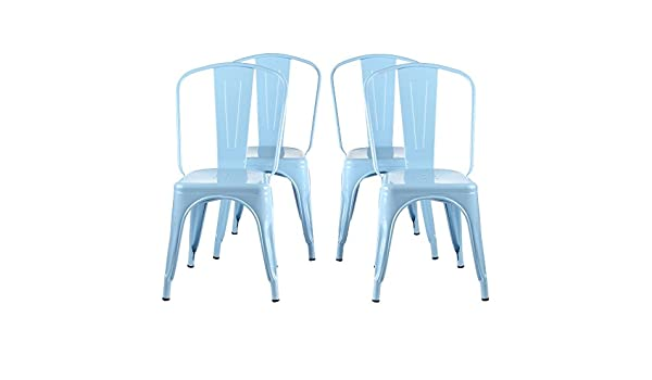 Peachy Amazon Com Tolix Style Bistro Dining Side Chair Set Of 4 Alphanode Cool Chair Designs And Ideas Alphanodeonline