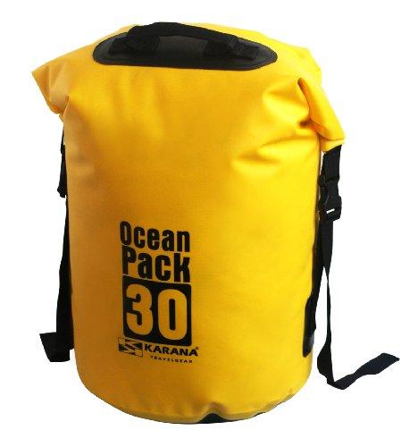 Karana Ocean 30L Kayak 30 Travel Day Waterproof Yellow Dry Bag Pack Duffel Litre rrFwqfx