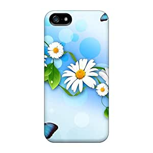 New Arrival Iphone 5/5s Case Daisies Butterflies Case Cover
