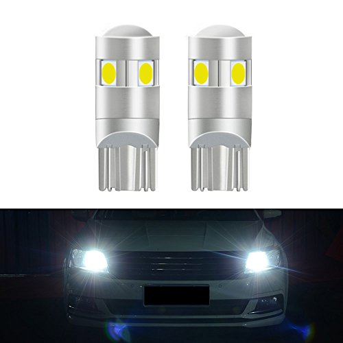T10 LED Bulb Extremely Bright 5-SMD 3030 Chipset 194 168 W5W LED Wedge Light 3.2W 12V License Plate Light Signal Light Trunk Lamp Clearance Lights Reading ()