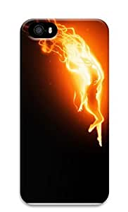 iPhone 5 5S Case Fire Woman 2 3D Custom iPhone 5 5S Case Cover