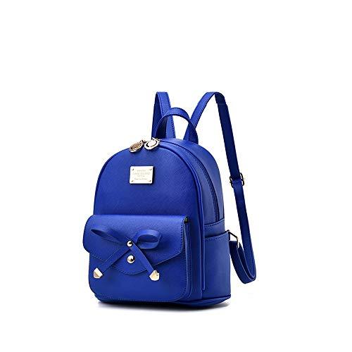 casual da viaggio Zaino 08 viaggio Balabala ragazze impermeabile Mini scuro borsa adolescenti in pelle carino borsa donne blu per e da PU piccola zainetto ALqRj534