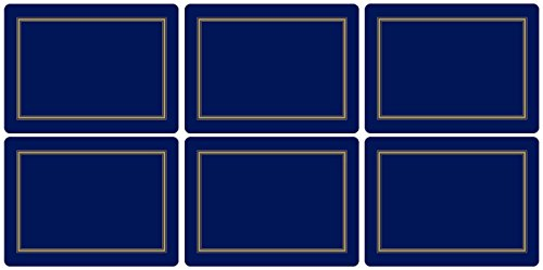 Pimpernel Classic Midnight Blue Placemats - Set of 6
