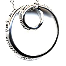 God's Blessed Friendship Infinity Circle Sterling Silver Necklace Friend Gift