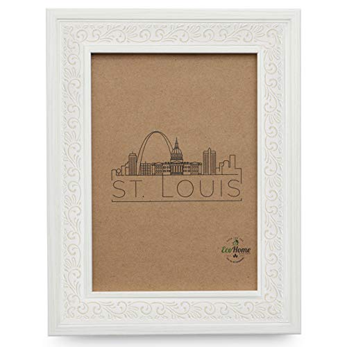 5x7 Picture Frame Off White - Ornate Mount Desktop Display, Frames by EcoHome