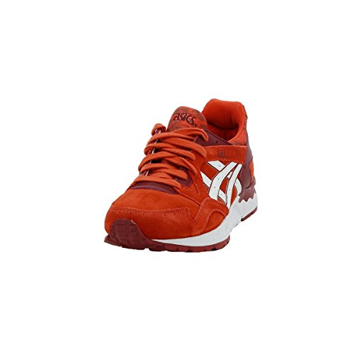 red Gel Leather Junior Trainers Suede Asics Lyte V Gs 8wqFUgd