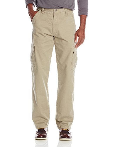 Wrangler Men's Authentics Classic Cargo Pant, British Khaki Twill, 36W x 32L by Wrangler (Image #1)