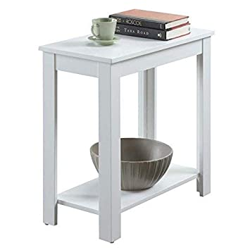 Convenience Concepts Designs2Go Baja Chairside End Table, White