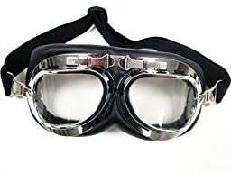 TMS WWII RAF Aviator Pilot Motorcycle Half helmet Goggles (TMS-33-6)