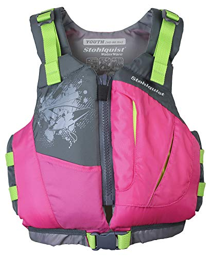 Stohlquist Youth Escape PFD Life Jackets, Pink