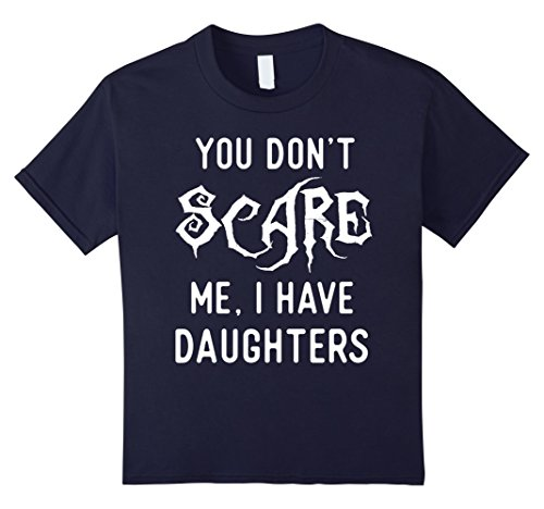 Kids Funny Parents of Daughters Shirts Halloween Costume Gifts. 4 Navy