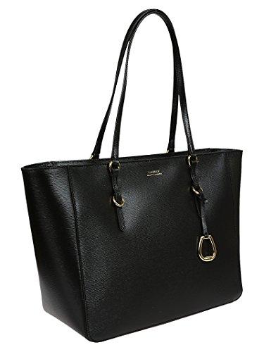 Shopping Donna Nero Borsa Lauren 431687507001 Pelle Ralph 4qnCEtTBw