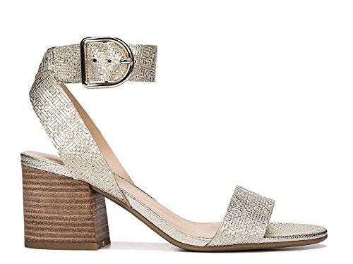 Franco Sarto Womens Marcy Open Toe Casual Slingback Sandals Platino Sy CGDTh3Hx