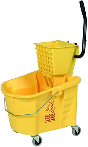 Continental 335-312YW, Splash Guard and Backsaver Combo Set with Squeeze-Type Wringer, Yellow (Case of 1) - Side Squeeze Wringer