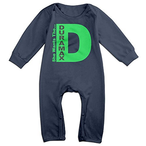 Unisex-baby Duramax She Wants The Long Sleeve Jumpsuit Outfit One-pieces (Usa Vinyl Duramax Shed)