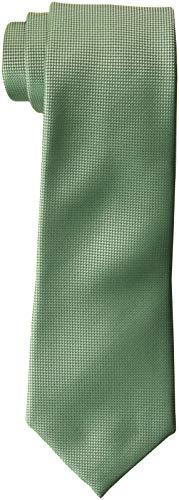 Perry Ellis Men's Oxford Solid Tie, Sage, One ()