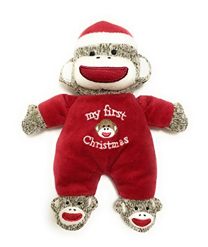 Baby Starters My First Christmas Plush Sock Monkey