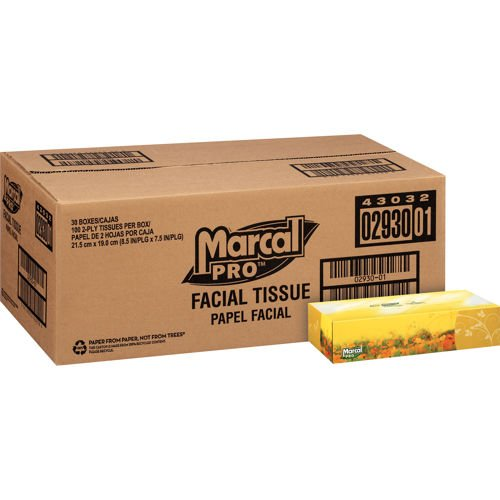 Amazon.com: Marcal Pro 100% Recycled Facial Tissue 2Ply 30/100ct MRC 2930: Home & Kitchen