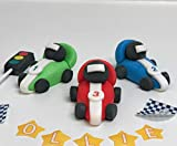 Racing Cars Cake Toppers Edible Icing Personalised Birthday Decorations Unofficial