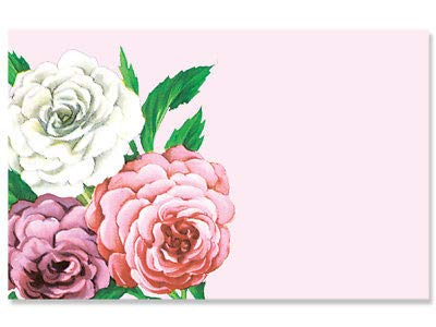 Rose Florist Purple (50ct. Pink Purple & White Roses Flowers Blank Florist Enclosure Cards Small Tags)