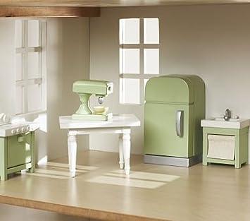 Amazon.com : Pottery Barn Kids Dollhouse Kitchen Set : Baby ...