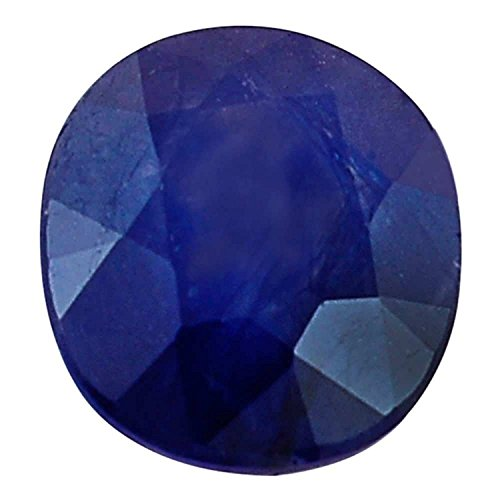 Neelam/Blue Sapphire 6.25 Carat Lab Certified Good Quality Natural Neelam Gemstone For Astrological Purpose  By GEMS - Sapphire Genuine Blue Gem Oval