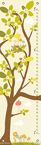 - Oopsy Daisy in The Branches Cream Finny and Zook Growth Charts, Pastel Yellow, 12 x 42