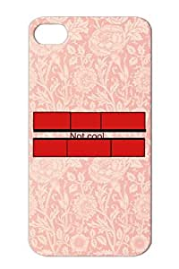 Cool Shapes Shapes Symbols Red Notcool Color Like Bricks TPU Protective Hard Case For Iphone 4 Not Cool