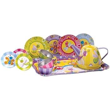 Amazon Com Alex Toys Yummy Tin Tea Set Toys Amp Games