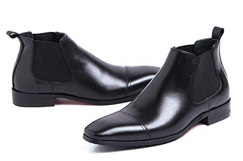 Invierno Hombres Negocio Real Cuero Formal Botas Vestir Casual Negro Oxfords Otoño tamaño 37-44 black