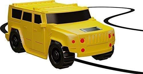 Magic Inductive Truck [Follows Black Line] Magic Toy Car for Kids & Children - Best MINI Magic Pen Inductive Fangle Kids Bus Tank Follow - 1 PC Yellow Car