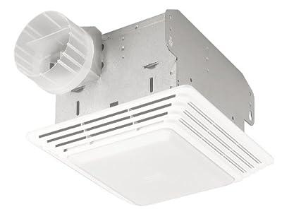 Broan Heavy Duty Ventilation Fan and Light, 80 CFM 2.5 Sones