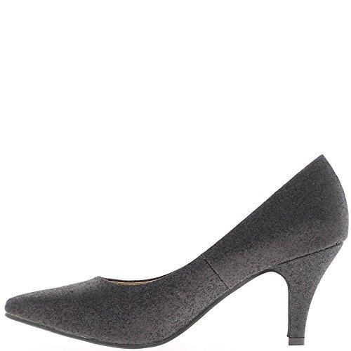 ... Frau Schuhe schwarz 7,5 cm Absatz ...