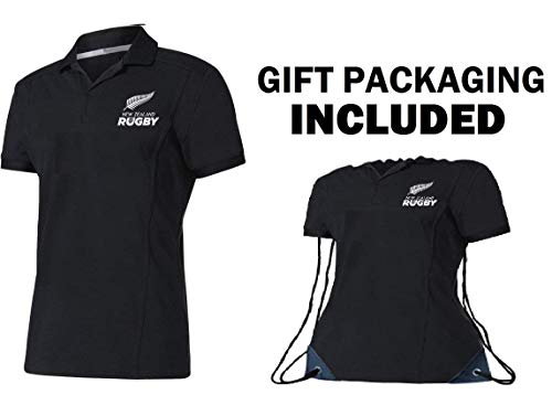 Fan Kitbag New Zealand All Black Rugby Jersey Home ✮ Short Sleeve ✮ Bonus All Black Rugby Jersey Shape Drawstring Backpack Gym Bag (3XL, Home Short Sleeve)