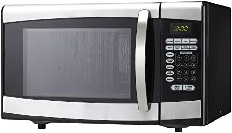 0.9 Cu. Ft. 900w Countertop Microwave in Silver By Danby- Cooking Power: 900 Watts- Product Type: Countertop- Great Value*
