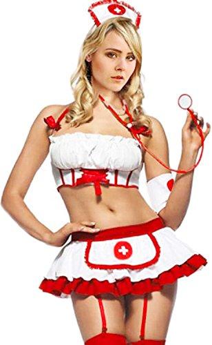 Women's Lingerie Nurse Sets Doctors Exotic Costumes White -