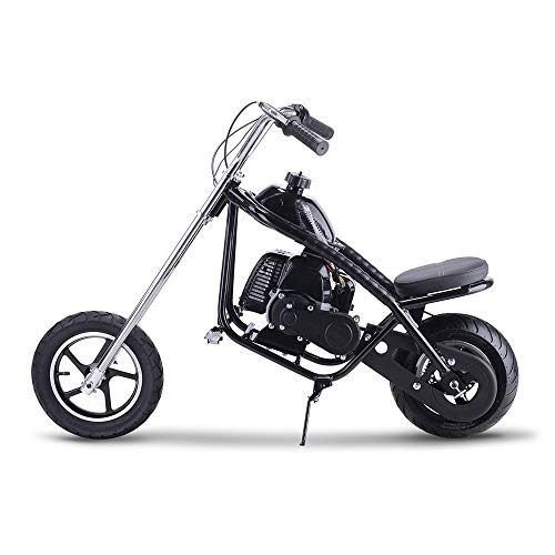 SAY YEAH Gas Mini Chopper 49cc 2-Stroke EPA Engine Dirt Bike Single Seat Mini Motorcycle for Kids Scooter Black (Chopper 49cc)