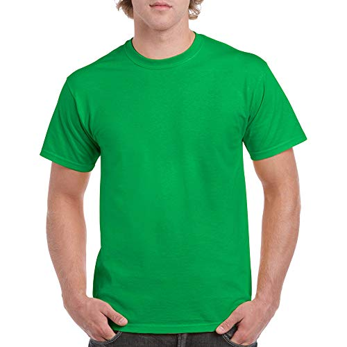 Green Mens Tee - Gildan Men's Heavy Cotton Adult T-Shirt, 2-Pack, Irish Green, 3X-Large