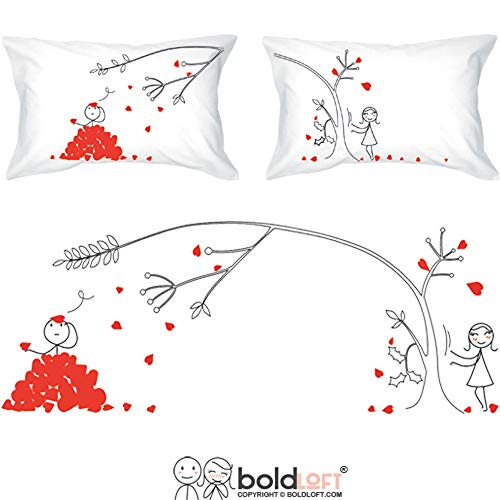 BoldLoft Love You Madly Couples Pillowcases for Him,Gifts for Boyfriend,Husband Gifts,Couples Gifts,His and Hers Gifts for Couples,Relationship Gifts,Dating Gifts