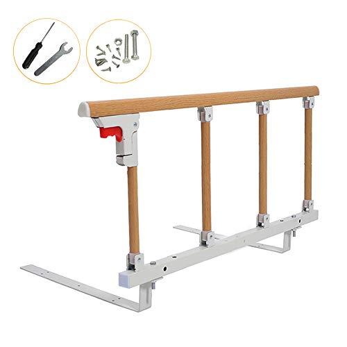 (Bed Rail Safety Side Guard Assist Handle for Elderly, Adults, Toddler & Handicap Bed Railing Folding Medical Hospital Disabled Bumper Bar (18 inch H))