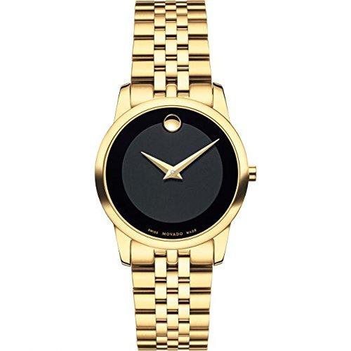 Movado Reloj de Mujer Cuarzo Suizo 28mm Correa de Acero Dorado 0607005: Amazon.es: Relojes