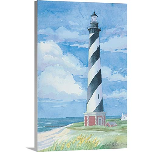 Paul Brent Premium Thick-Wrap Canvas Wall Art Print Entitled Lighthouse, Cape Hatteras, NC 12